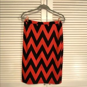 MOA USA Chevron Print Knee Length Pencil Skirt.